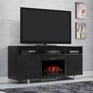 80 tv stand with fireplace - 8