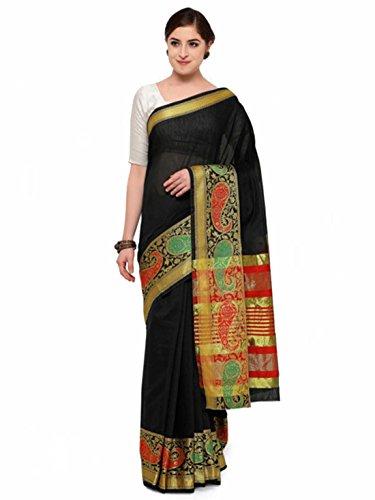 Woven Black design Saree Export Handicrfats Satrani Indian IqCg1wg