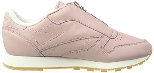 Rosa Basse Zip Reebok Leather silver Metallic Da Classic Scarpe Pink chalk Donna Ginnastica shell fxwq8p