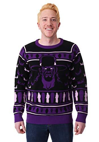 WWE Undertaker Adult Ugly Christmas Sweater 3X Purple -