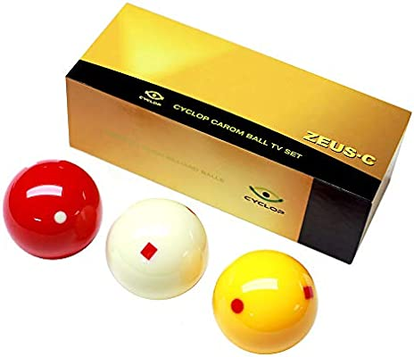 Cyclop Juego Bolas Carom Zeus tornament TV Set 61. 5mm Set 3 Bolas ...