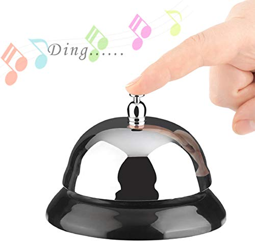 - Service Bell, Call Bell, Desk Bell, Bellhop Bell, 3.3 inches Diameter, Top Quality, Pleasant Sound, Durable, Anti-Rust