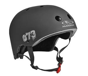 Hudora Kinder Skateboarder Helm, schwarz, Gr. 55-58