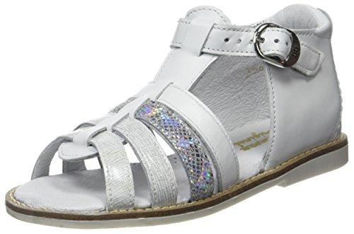 babybotte Mädchen Teoxana Peep-Toe Blanc (Blanc Multi)