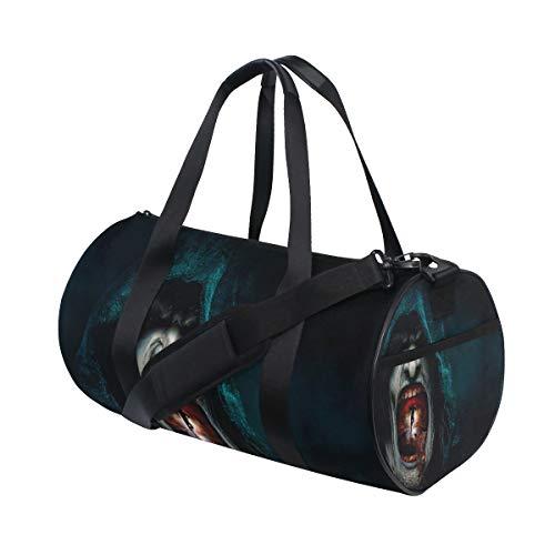(ALLMILL Lightweight Duffle bag Halloween Horror Nights E Inside Gym bags Oversize Sports bags weekend Overnight Travel handbag for men women)