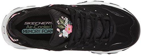 Skechers Damen Sportschuhe D´Lite Bright Blossoms Weiß Schwarz