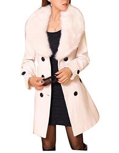 Windbreakers Coat Di Sankt Wrap Pelliccia Simplicity Bowknot White Pea Collo Women 1q50x5B