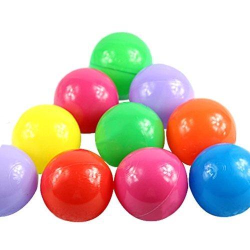 Just Model 100pcs Colorful Fun Balls Soft Plastic Ball Pit Balls Baby Kids Tent Swim Toys Ball 5.5CM, Colours by...