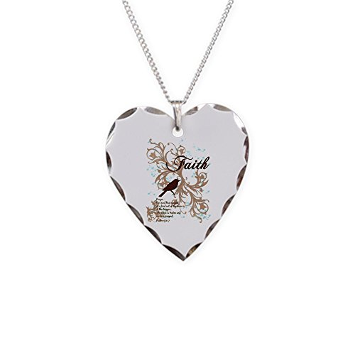 Price comparison product image Necklace Heart Charm Faith Prayer Dove Christian Cross