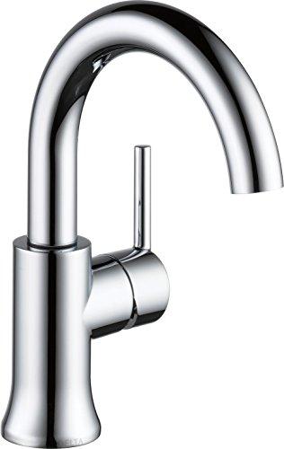 Delta Faucet 559HA-GPM-DST Single Handle Bathroom Faucet, (Trinsic Chrome Single Handle)