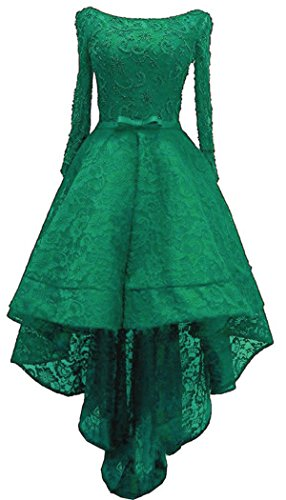 Prom Sleeve Dress Maxi Short green Women's Dress Lo Black Shoulder Style3 The Evening Off Dress 2018 Lace Hi Diandiai YZtxqzZ