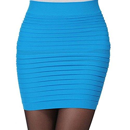 Hanche Haute Line Mini Taille Package Courte Moulante A Jupe Retro FuweiEncore Jupe Jupe Bleu Femme Hq1aAxwzOg