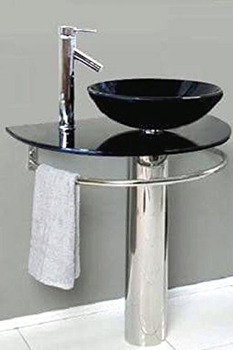 Outstanding Arvind Glass Washbasin With Bowl Mirror And Steel Stand Black Download Free Architecture Designs Scobabritishbridgeorg