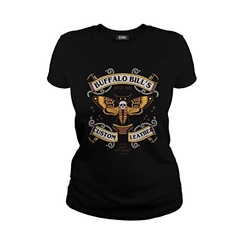 Women's Buffalo Bill's Custom Leather Since 1991 T-Shirt (XL, Black) ()