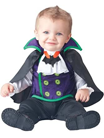 InCharacter Baby Boy's Count Cutie Vampire Costume, Black/Purple, X-Small