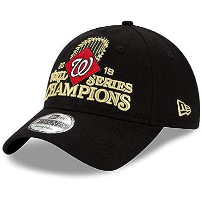 Men's Washington Nationals Black 2019 World Series Champions Locker Room 9TWENTY Adjustable Hat