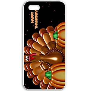 Apple iPhone 5 5S Cases Customized Gifts For Holidays Happy Thanksgiving Celebrations Holiday White