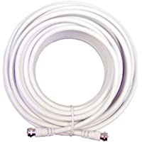 Wilson Electronics 20 ft RG6 F-Male / F-Male Coax Cable, White