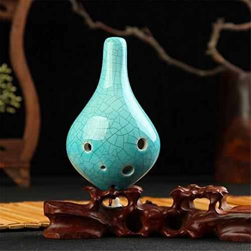Sala-Fnt Ceramic Pottery Ocarina Flute Zelda Alto C AC Vintage Ceramics Professional Musical Woodwind Orff Instrument