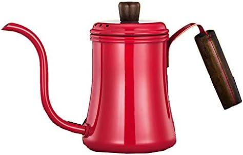 コーヒーポット 700mlのコーヒードリップポットステンレス製グースネックコーヒーポットコーヒーのハンドドリップケトル コーヒードリップポット (Color : Red, Size : 700ml)