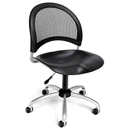 (OFM 336-P-BLK Moon Swivel Plastic Chair,)