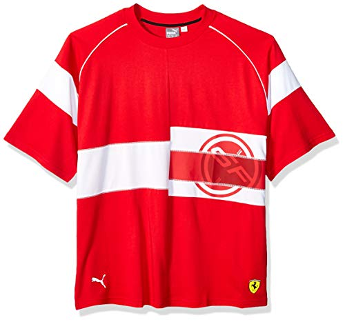 PUMA Men's Scuderia Ferrari Street TEE, Rosso Corsa, X-Large