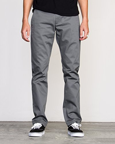 Skate Pants - RVCA Men's The Weekend Stretch Pant, Smoke, 36