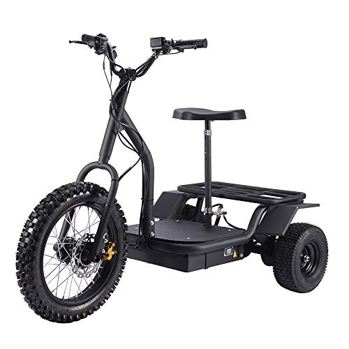 Electric Tricycle SAY YEAH 3 Wheel 1200W Electric Trike Cargo Bike,Adult Electric Scooter -