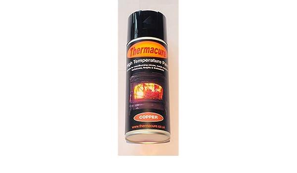 Resistente a altas temperaturas de cobre Thermacure Spray de pintura profesional-estufa calor, barbacoa, agota: Amazon.es: Hogar