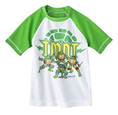 Nickelodeon Little Boys' Teenage Mutant Ninja Turtles Rashguard (Green, 3T)