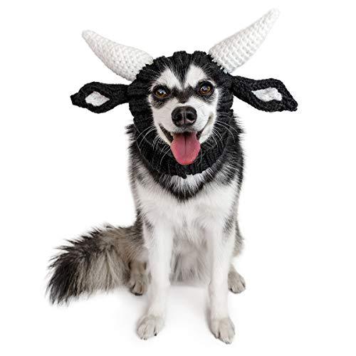 Zoo Snoods Bull Dog Costume - Neck and Ear Warmer Snood for Pets (Medium) -