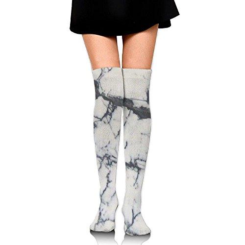 Le Donne Del Marmor Lungamente Le Calze Di Cosplay Delle Alte Calze Del Ginocchio Calza Che Calza Il Bianco