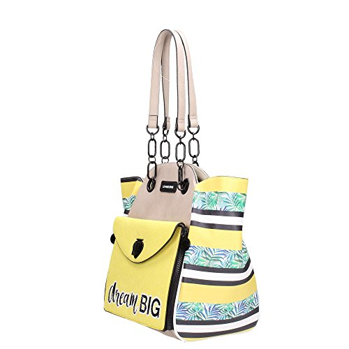 Le Pandorine CLASSIC MINI 2.0 Taschen Frau Beige V5v8LHikn