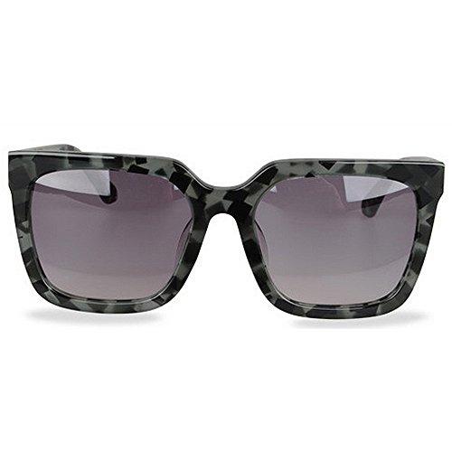 tamaño Gafas Lente Vacaciones UV polarizadas acetato de de de Playa sol gafas Conducción Fibra al Protección Hombres de Gafas sol Personalidad gran aire Marco de TAC Retro libre camuflaje de Verde esquí de 8UZqIfn