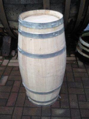 JUNIT 100 Liter Zigarrenfass H.94, D.46cm aus Kastanienholz, Fassvase Holzfass Dekofass Wasserfass Weinfass