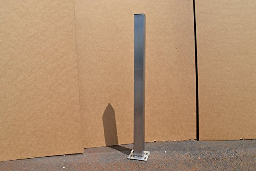 Brushed Stainless Metal Post Table Legs - Any Size! by Custom Table Legs