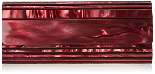La Regale Lucite Marble Roll Evening Bag,Wine,One Size