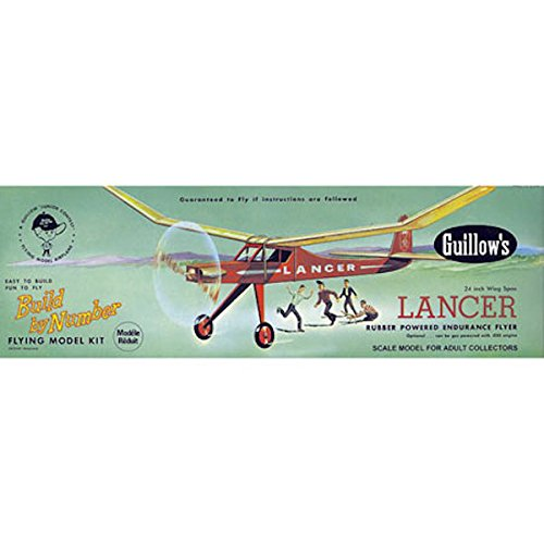 (Guillow's Lancer Rubber Powered Endurance Flyer Model Kit)