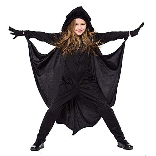 Neilyoshop Halloween Children's Bats Costume Jumpsuit Animal Clothes Boys Girls for Halloween Party Role Play M