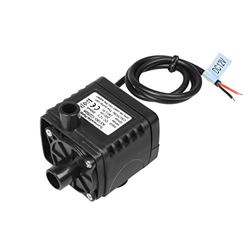 DC 12V Submersible Pump 280L/H Water Pump with 6.5ft High Lift, Fountain Pump with 1.4 ft Power Cord, for Fish Tank, Pond, Aquarium, Hydroponics