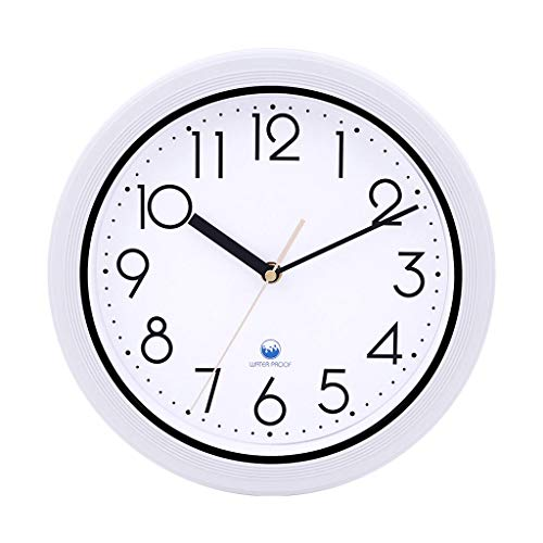 Qing MEI Waterproof Wall Clock Moisture-Proof Dustproof Kitchen Bathroom Outdoor Swimming Pool Bathroom Creative Silent Clock A++