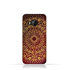 HTC ONEME TPU Silicone Case With Floral Pattern 1201