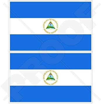 "Nicaragua bandera nicaragüense central América 3 ""(75 mm) vinilo parachoques pegatinas,"