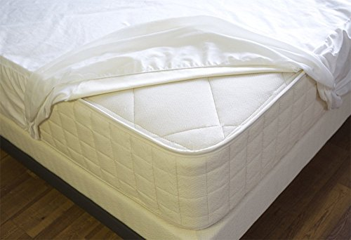 waterproof mattress protector queen size 15 inch pocket depth white solid anti allergy anti. Black Bedroom Furniture Sets. Home Design Ideas