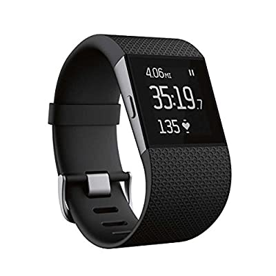 Fitbit Surge Smart Fitness Watch Superwatch Wireless Activity Tracker with Heart Rate Monitor, Large (5.5-6.3 in) (Certified Refurbished)