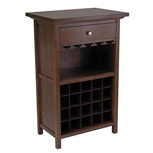 Winsome Wood 94441 Chablis Wine Storage, Walnut