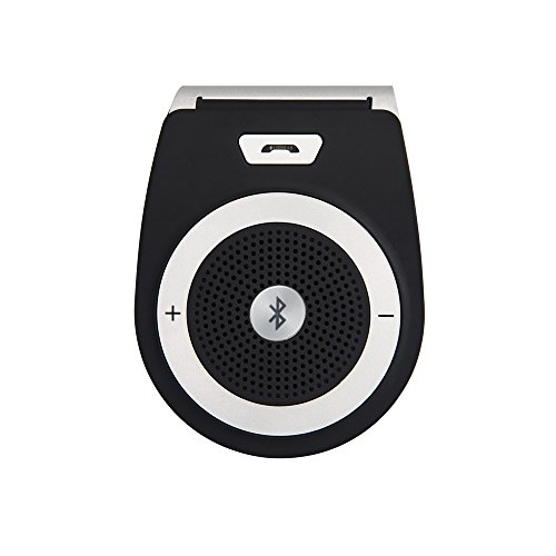 NewRice 3W speaker(3.0) Wireless Bluetooth Visor Speaker Phone Handsfree car/Vehicle Kit for iphone Blackberry, Samsung, Motorola, LG, HTC, Smartphone ipad2/3/4/mini, Tablets and more (black)