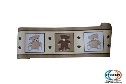 GEENNY Wall Border, Boutique Teddy Bear