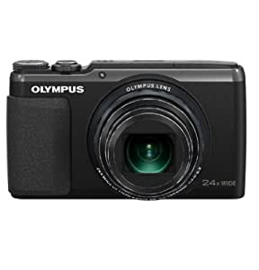 Olympus Stylus SH-50 iHS Digital Camera with 24x Optical Zoom and 3-Inch LCD (Black) (Old Model)