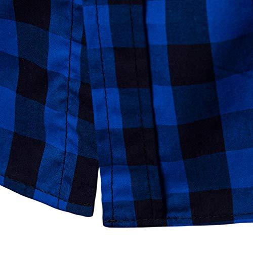 En Longues Unie Bleu Popeline Casual Chemise Simple Flanelle Chandail Et À Carreaux Poitrine Business Hommes Unique Homme Gladdon Manches Pour Chemises qAY7Rwt